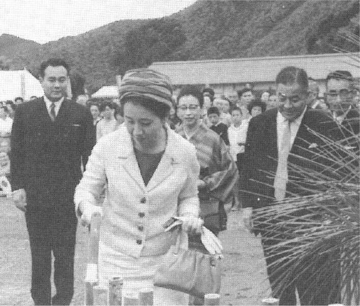 三笠宮両殿下の九州真珠(有)御訪問